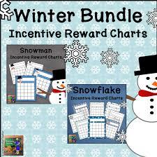 Winter Incentive Charts Winter Incentive Reward Sticker Charts Bundle