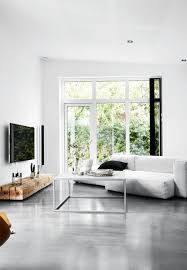 Interior Design Grey Living Room Spacious And Grey Living Room In Nordic Style With Concrete