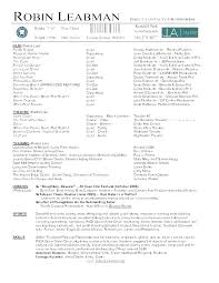 Casting Director Resume Film Resume Template Assistant Director Format Editor
