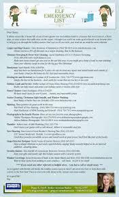 Emergency List Get Your Elf Emergency List Ready Pop By Ideas
