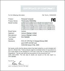 Certificate Of Conformity Sample Template Conformance And Free ...