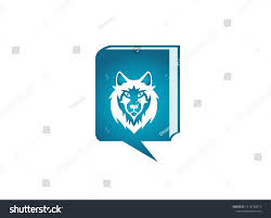 Chat Front Design Wolf Head Face Looking Front Chat Stock Illustration 1412760413