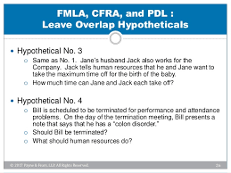 Fmla Cfra Chart Negotiating The Maze Of Overlapping Leave Laws