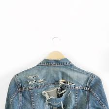 how to make your own super distressed and shredded jean jacket