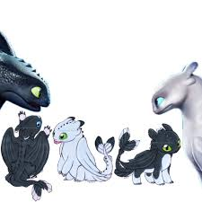 Light Fury And Toothless Baby Freetoedit Toothless Lightfury Family Baby