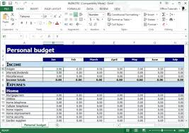 How To Use Excel For A Budget Free Personal Budget Planner Template For Excel