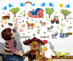 Farm Animal Kitchen Decor Farm Animal Wall Stickers Farm Animal Bathroom Accessories Tsc