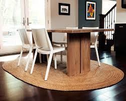 tan jute rug dining room