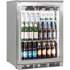 rhino envy 1 door alfresco outdoor glass door bar fridge model env1r ss