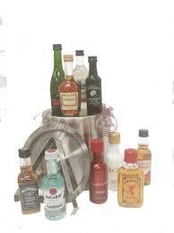 premium mini bar liquor gift basket 21st birthday gift 50ml gift basket mini