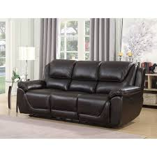 colton genuine top grain leather touch dual power reclining sofa with memory foam seat toppers and