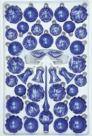 Christbaumschmuck Sortiment Polarnacht 39 Teilig Weihnachtsbaumschmuck Lauflack Blau