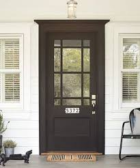 exterior doors with glass. Plain Glass For A Dramatic Entrance Paint Your Front Door In Highgloss Black And Add  Some Brightwhite Porcelaintile House Numbers About 75 Rejuvenation On Exterior Doors With Glass