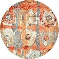 modern round rugs orange 8 x 8 round rug modern living rooms with oriental rugs