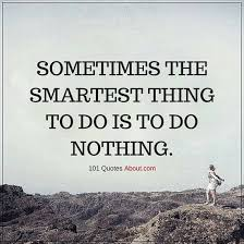 Sometimes Quotes Inspiration Sometimes The Smartest Thing To Do Is To Do Nothing Sometimes