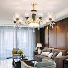 modern black gold metal led chandeliers lighting living room glass led pendant chandelier lights bedroom hanging lamp fixtures ship chandelier cage