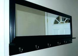 entryway wall mirrors wall shelf with hookirror white entryway mirror with hooks white wall