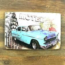 vintage car wall art metal garage poster building decor race 6 gallery classic target vint