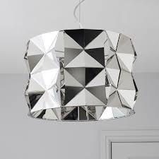 Ciara Faceted Chrome Effect Pendant Ceiling Light | Departments | DIY at  B&Q.