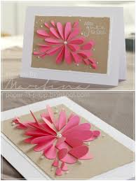 Flower Paper Craft Classy Floral Petal Card Design With Pearls Truly Hand Picked