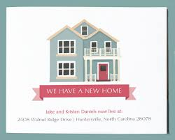 New Home Announcement Postcards Rustic Calligraphy New Home