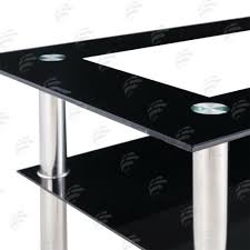 tables clear black side glass coffee