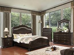 wooden bed back design. Exellent Wooden Calliope Bedroom Furniture Rich Espresso Finish Camel Back Design Queen  Size Bed 4pc Set Dresser Mirror And Wooden