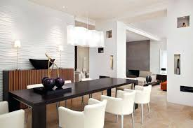 modern rectangular chandelier dining room lighting idea with unique white shade rectangle over black table and