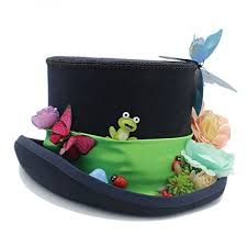 jane ge diy steampunk top hat with forest flowers mad hatter hat for women