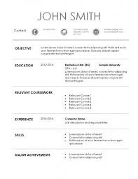 Sample Resume For Internship Awesome Internship Resume Template