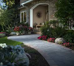 Stone Paver Designs For Walkways Stone Pathways Stepping Stone Walkway Ideas Designs