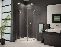 impressive bathroom design and decoration with various standing shower ideas fantastic grey bathroom decoration using