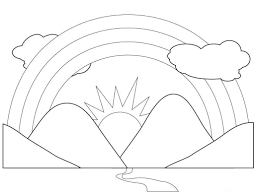Small Picture Rainbow Coloring Pages For Preschool New Coloring Pages 4860
