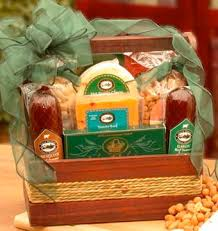 nuts cheese and sausage gift basket