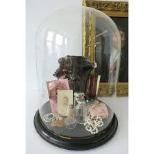 antique display bell jar large glass dome case home improvement cast