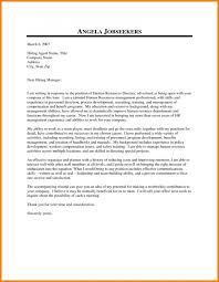 Cover Letter Dear