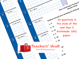 Practice Paper Y2 Arithmetic Sats Practice Paper Free Maths Teaching Resources Ks1
