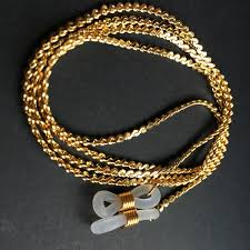 Gold Or <b>Silver Electro Plated Eyeglass</b> Brass Copper Neck Chains ...