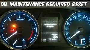 2017 Toyota Corolla Dashboard Warning Lights Service Warning Light Reset How To Toyota Corolla 2015