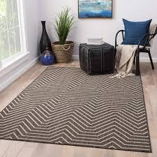 Clarion Indoor/ Outdoor Geometric Dark Gray/ Cream Area Rug (2' X 3') -  Free Shipping On Orders Over $45 - Overstock.com - 24325743