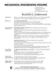 Mechanical Engineering Resume Sample Simple Resume Format