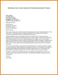 9 Marketing Cover Letter G Unitrecors