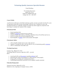 Resumes Qualityl Resume Assurance Sample Pdf Stibera Analyst