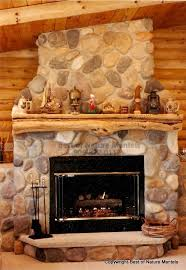 cedar log mantel gas fireplace lanser