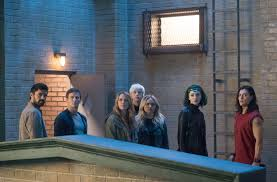 the gifted l r sean teale stephen moyer amy acker percy hynes white natalie alyn lind emma dumont and blair redford in the monsters of the