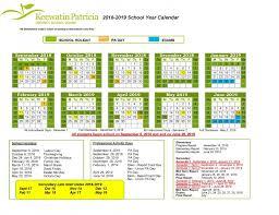 Year To Year Calendar School Year Calendar Keewatin Patricia District School Board