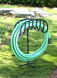 water hose holder decorative stand by steel garden pot holde