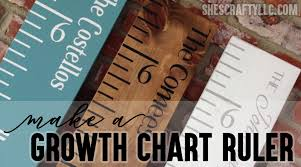 Make Your Own Growth Chart Ruler