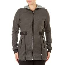 Juniors Soft Shell Anorak With Fleece Lined Knit Hood 110285815
