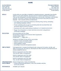 Functional Resume Definition Fascinating Chronological Order Example Resume